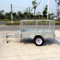 hot dipped galvanised single axle trailer