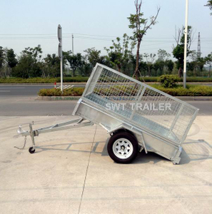 hot dipped galvanised 7x4 Single axle trailer