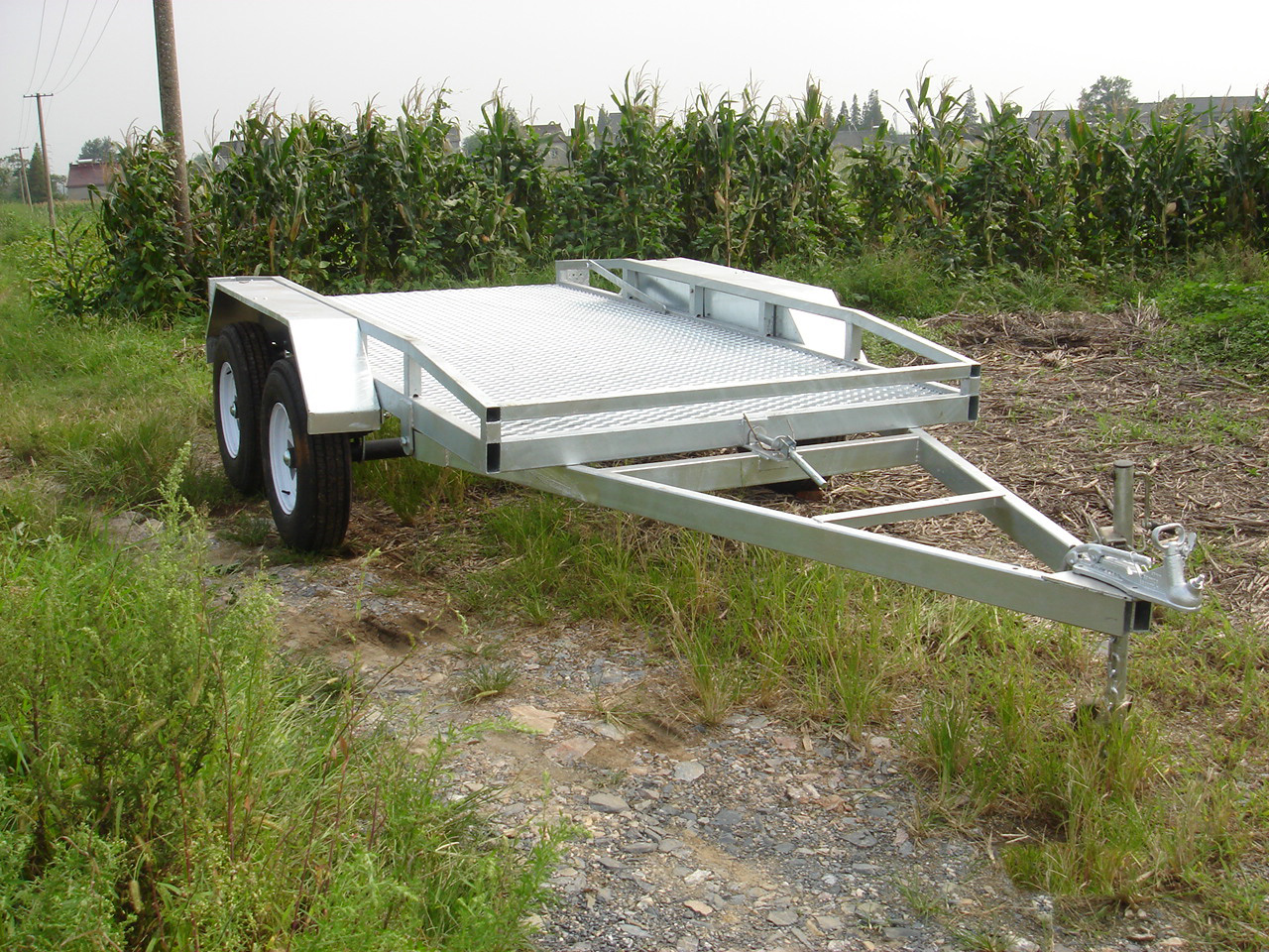 Hot dipped galvanized roadway plant trailer