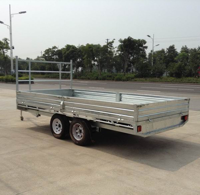 flat bed transportation trailer with led taillight