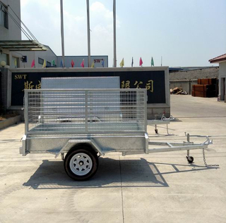 6x4 Singl axle trailer