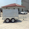 Box trailer with aluminum tradesman top